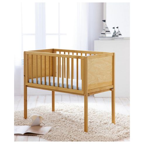 Saplings Ellie Stationary Crib with Mattress, Natural