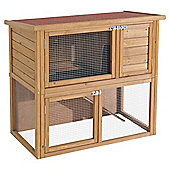 Rabbitshack Ground Level Hutch with Under-run & Cover