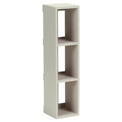 Tesco Leather Effect Media Rack, Cream