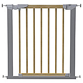 Babydan Avantgarde Pressure Indicator Safety Stair Gate, Silver & Beech