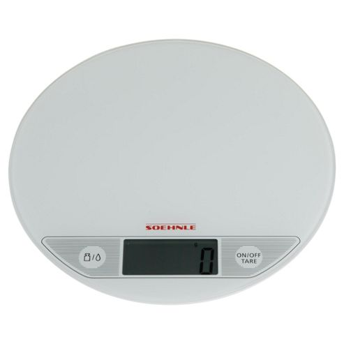 Soehnle 5 kg Flip Digital Kitchen Scale in White