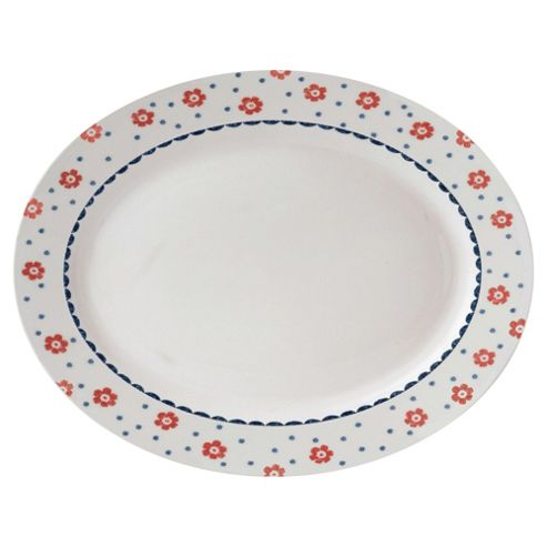 Johnson Bros Farmhouse 35cm Spot Daisy Oval Platter