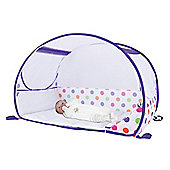 Koo-di Pop Up Bubble Travel Cot, Blue Polka