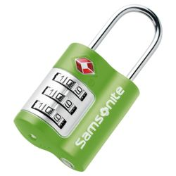 Samsonite TSA Combination Lock, Green