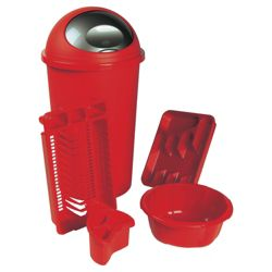 Red Kitchen Bundle w Bullet Bin