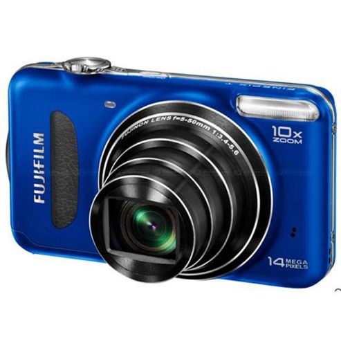Fujifilm FinePix T200 Digital Camera, Blue, 14.1MP, 1x Optical Zoom, 2.7 inch LCD Screen
