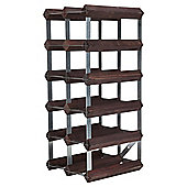 Ready To Assemble 15 Bottle Wine Rack, Dark Oak