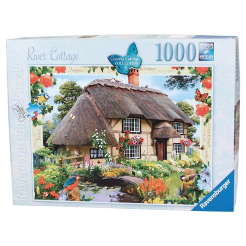 Country Cottage Collection, River Cottage 1000 piece Jigsaw Puzzle