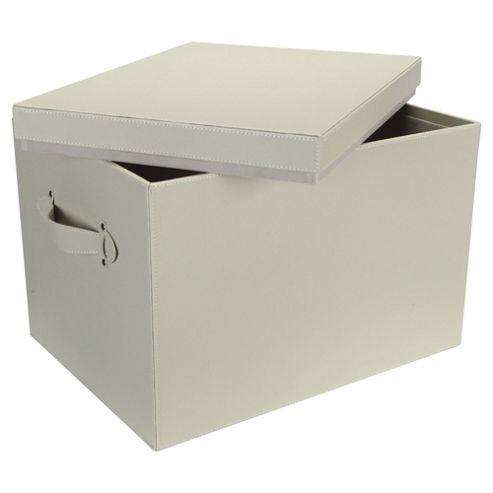 Tesco Leather Effect Trunk, Cream