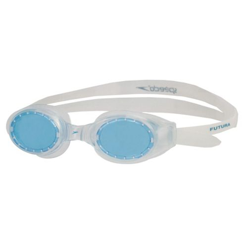 Speedo Futura Ice Plus Swimming Goggles, Clear/Blue