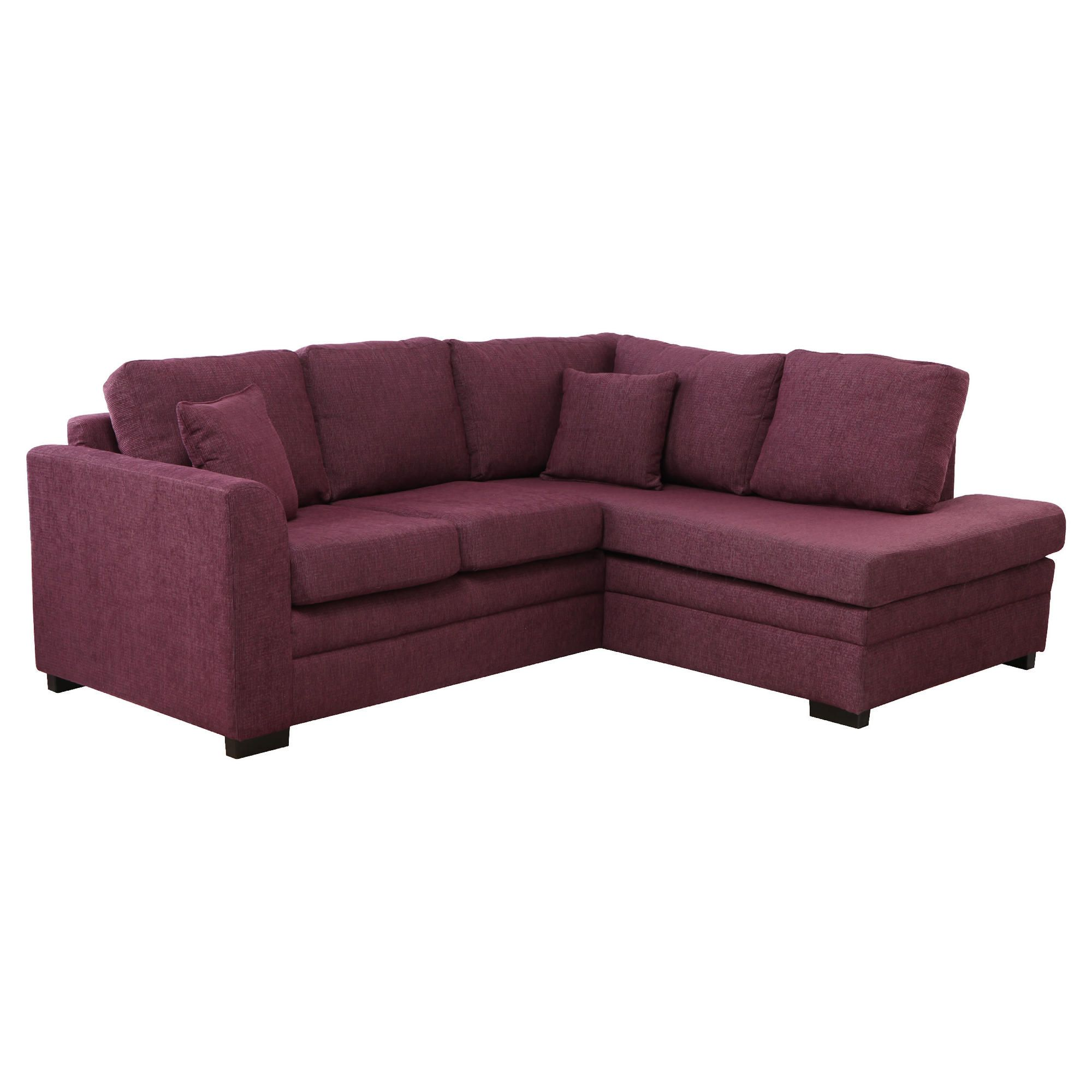 Abbey Corner Fabric Sofa, Plum Right Hand Facing at Tesco Direct