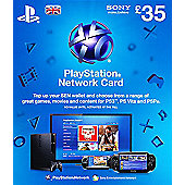 PlayStation Network £35 Card