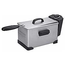 Tesco DFPSS11 3L Pro Fryer, Black and Stainless Steel
