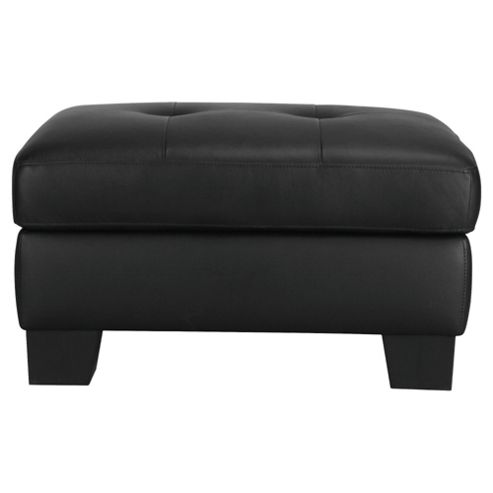 Utah Storage Footstool, Black