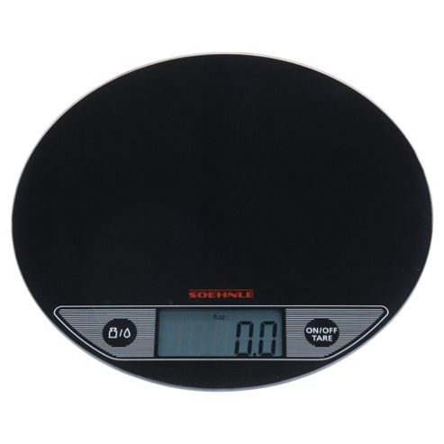 Soehnle Flip Flat Glass Scales, Black