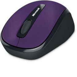 Microsoft 3500 Mouse - BlueTrack - Wireless - 3 Button(s) - Violet - Radio Frequency - USB - Scroll Wheel - Symmetrical