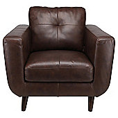 Lorenzo Leather Armchair Chocolate