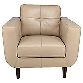 Lorenzo Leather Armchair Taupe