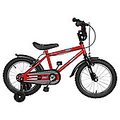 "Urban Racers 16"" Kids' Bike - with stabilisers"