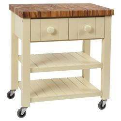 T&G Woodware England Trolley with Acacia Top