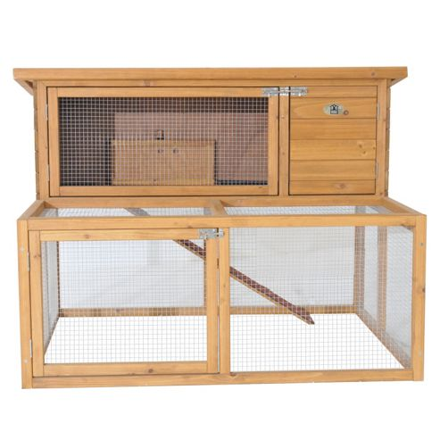 Rabbitshack double hutch with exercise run