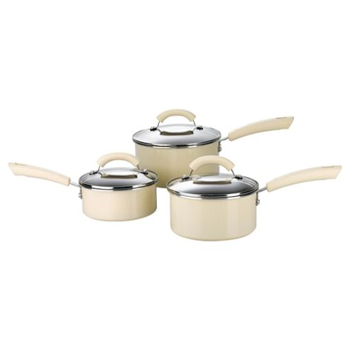 This Morning by Prestige 3 piece Non-stick Pan Set, Almond