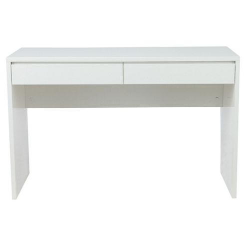 Urban Straight Desk, White Gloss