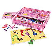 Fuzzy Felt Glitter Princess Deluxe Set