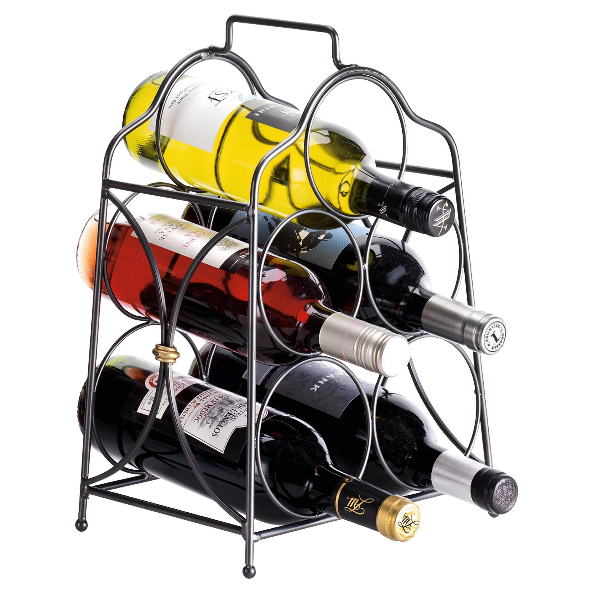 Castello 5 Bottle Wine rack, Black