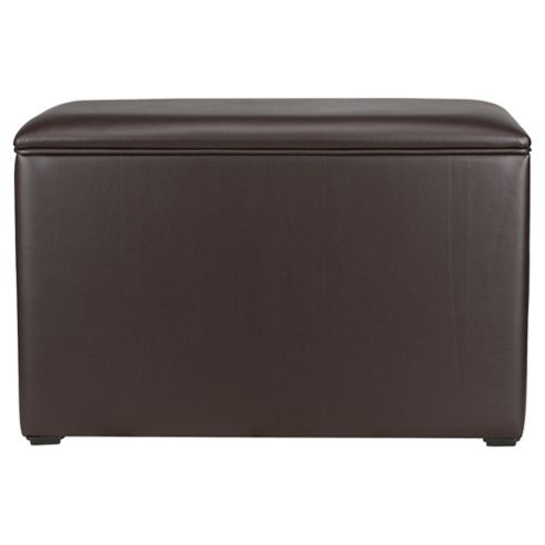 Seetall Ottoman Chocolate Faux Leather
