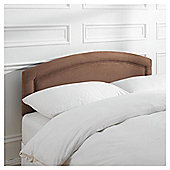 Seetall Adel Headboard Chocolate Faux Suede Double