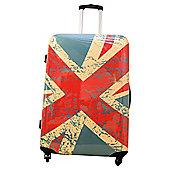 Union Jack 4-Wheel Hard Shell Suitcase, Large