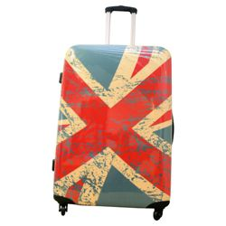 Union Jack 4-Wheel Hard Shell Suitcase, Large