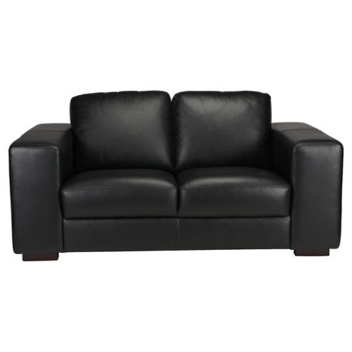 Antonio Leather Small Sofa Black
