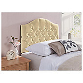 Sandon Single Velour Headboard, Oyster