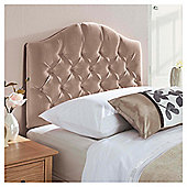 Seetall Sandon Headboard Oyster Velour Single
