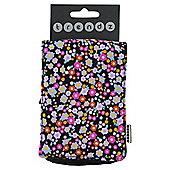 Trendz Mobile Pouch Universal Ditsy Pattern Black