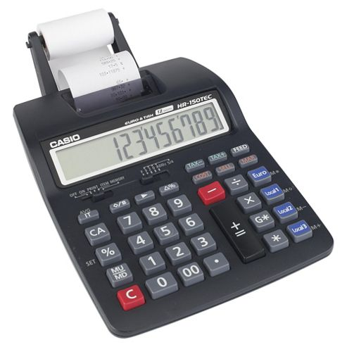 Casio Computer Hr-150Tec-W Print Calculator Black
