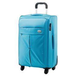 Samsonite American Tourister Colora 4-Wheel Suitcase, Turqoise 66cm