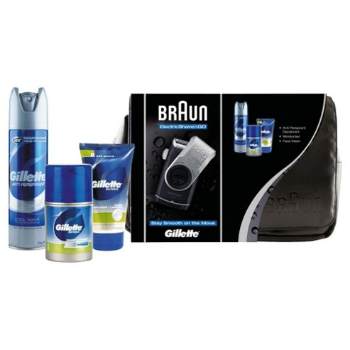 Braun Mobile Shaver and Gillette Skin Care Set Travel Bag