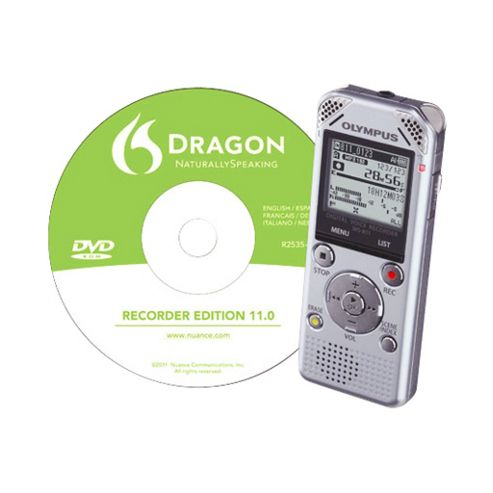 Olympus WS-811 Digital Voice Recorder with Dragon Naturally Speaking Software