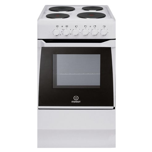 Indesit IS50EW White Single Electric Cooker