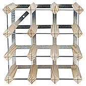 Ready To Assemble 12 Bottle Wine Rack, Natural Pine