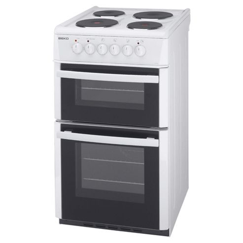 Beko D532AW White 50cm Twin Cavity Electric Cooker