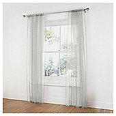 "Tesco Pair voile channel top W137xL229cm (54x90""), Ivory"