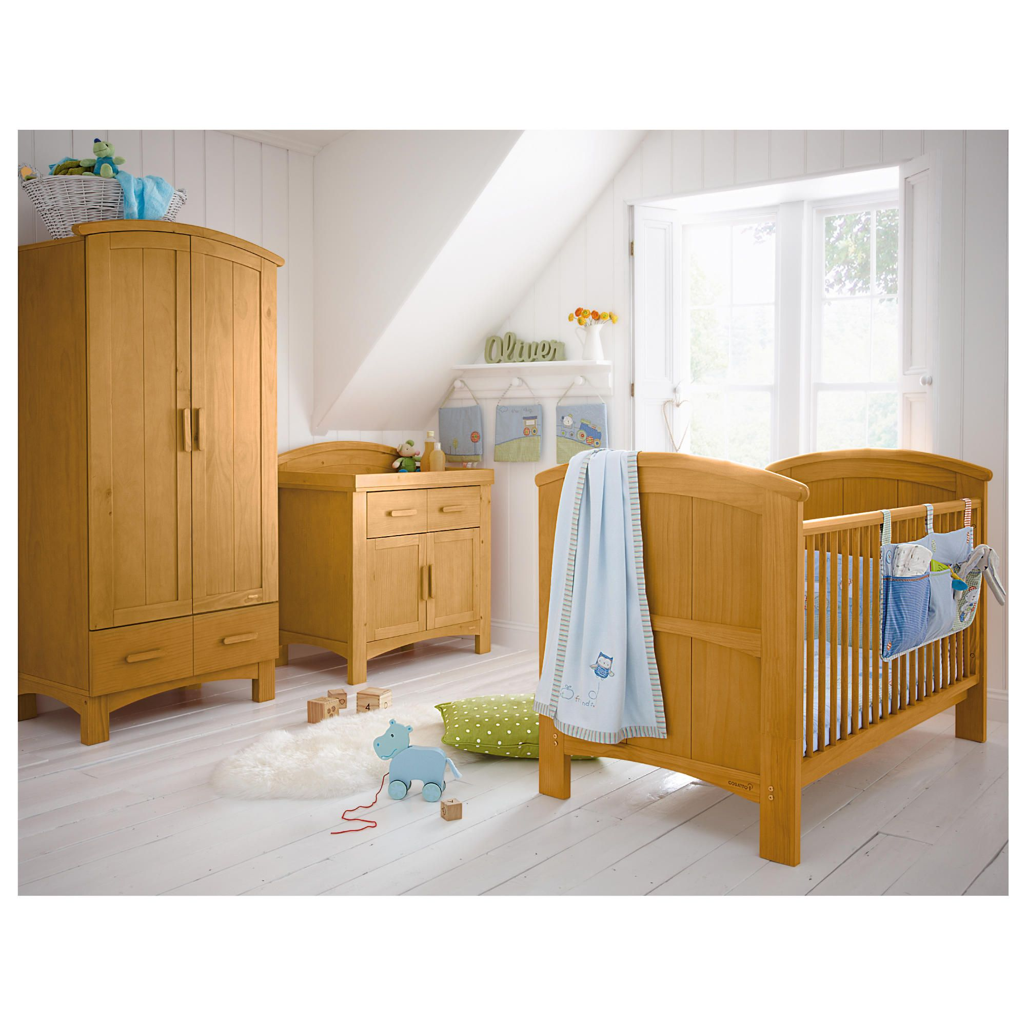 Cosatto Hogarth 3 Piece Room Set, Light Country Pine at Tesco Direct