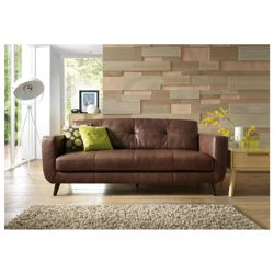 Lorenzo Leather Large Sofa Chocolate.