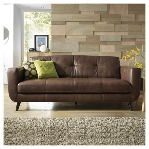 Lorenzo Leather Large Sofa Chocolate