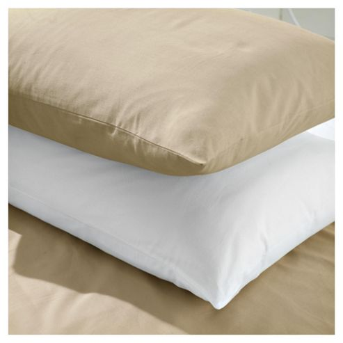100% cotton Pillowcases x2 cappucino