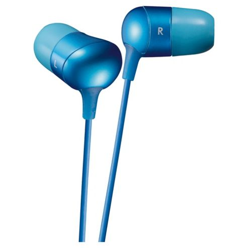 JVC Marshmallow Comfortable Fit Earphones Blue HA-FX35AE